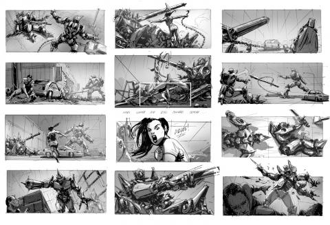 Storyboard de Transformers Age of Extinction